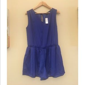 Loft royal blue romper size medium NWT